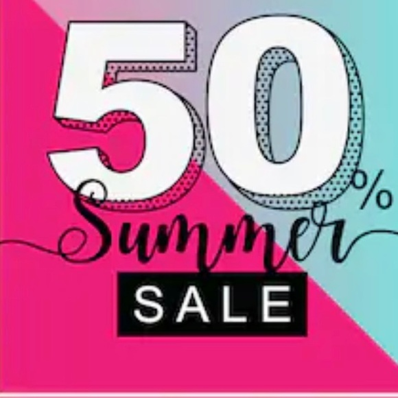 BLACK FRI 50% OFF ON SUMMER ITEMS! ENDS MONDAY